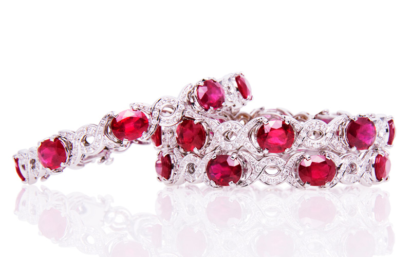 SET OF RUBY BRACELETS 1502