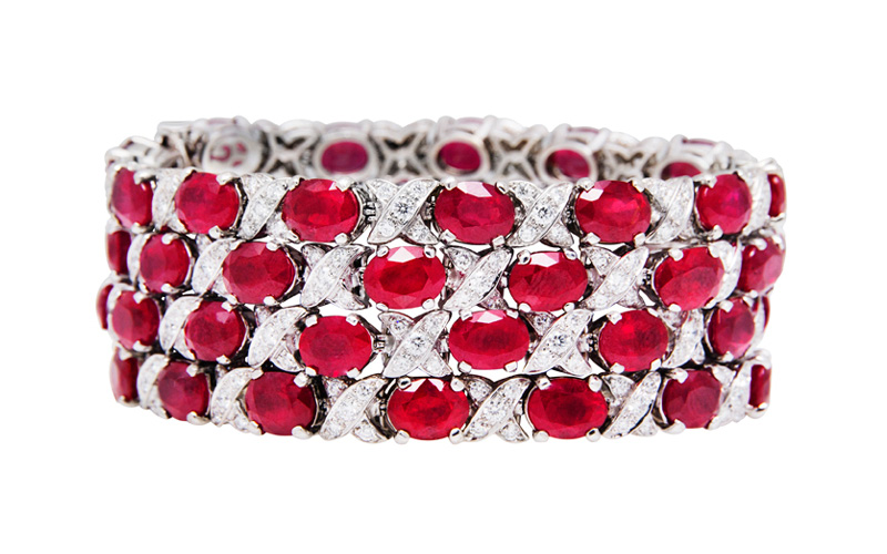 SET OF RUBY BRACELETS 1193