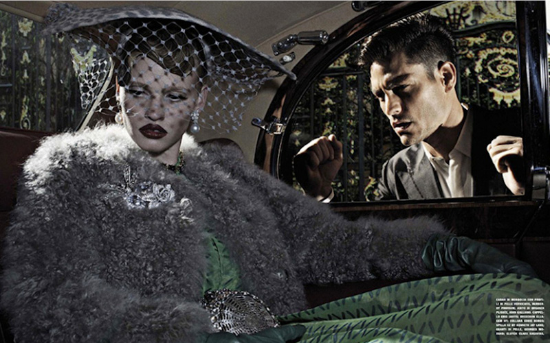 VOGUE Italia model LARA STONE photographer STEVEN KLEIN stylist PATTI WILSON