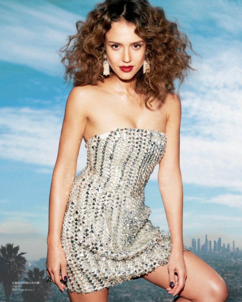 ELLE China model JESSICA ALBA photographer Cliff WATTS stylist ISE WHITE